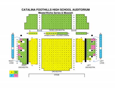 Catalina Foothills HS Seat Map (price areas subject to change)